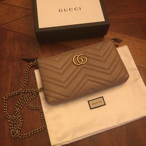 Authentic Gucci Marmont mini chain bag